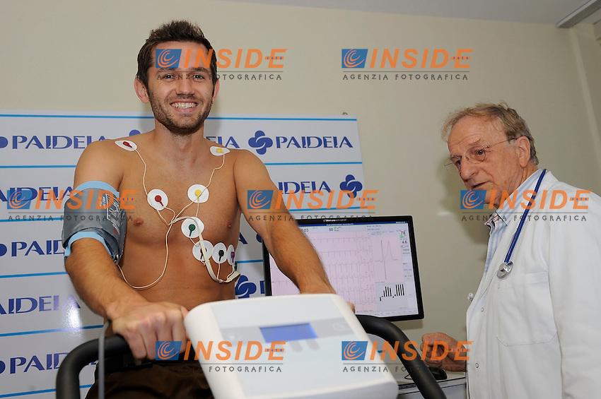 Senad Lulic <br /> Roma 06-07-2016 Clinica Paideia<br /> Visite mediche giocatori Lazio in Paideia <br /> SS Lazio players Medical check up <br /> Foto Marco Rosi/fotonotizia/Insidefoto