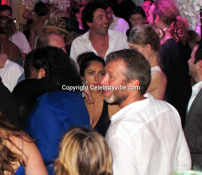 **EXCLUSIVE**Salma Hayek and Roman Abramovich dancing. Roman Abramovich New Years Eve Party.Roman Abramovich Villa.St. Barth, Caribbean.Friday, December 31, 2010.Photo By CelebrityVibe.com.To license this image please call (212) 410 5354; or Email: CelebrityVibe@gmail.com ; website: www.CelebrityVibe.com