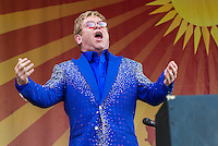 Elton John at the New Orleans Jazz and Heritage Festival on May 2, 2015.