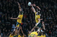 Kieran Read wins lineout ball during the Bledisloe Cup rugby match between the New Zealand All Blacks and Australia Wallabies at Eden Park in Auckland, New Zealand on Saturday, 17 August 2019. Photo: Simon Watts / lintottphoto.co.nz