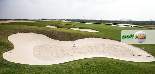 View of the 10th fairway at Al Zorah Golf Club, Dubai, United Arab Emirates.  26/01/2016. Picture: Golffile | David Lloyd<br /> <br /> All photos usage must carry mandatory copyright credit (&copy; Golffile | David Lloyd)