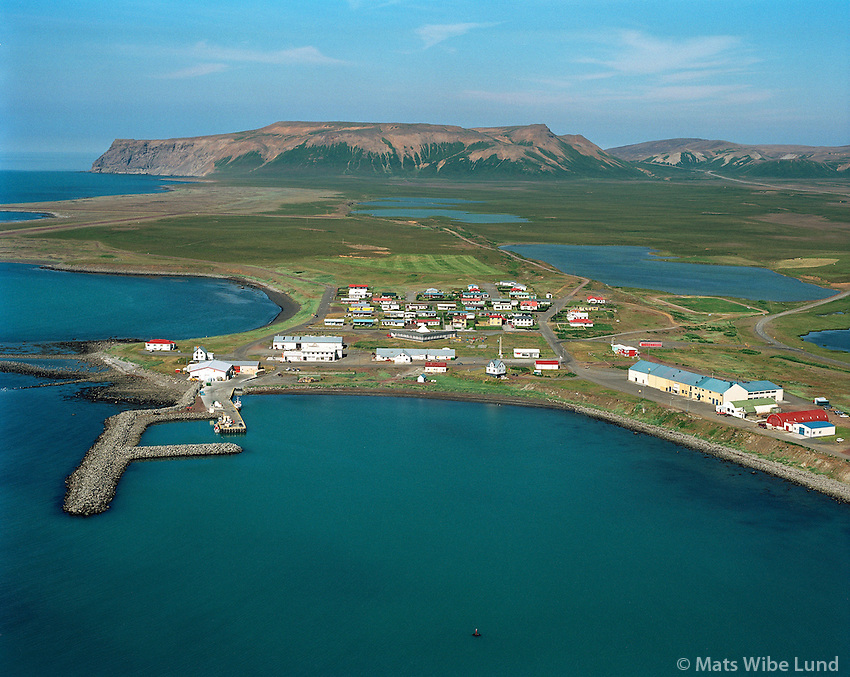 Kópasker séð til norðurs, Norðurþing áður Presthólahreppur / Kopaskerl viewing north. Nordurthing former Prestholahreppur.