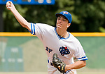WATERBURY, CT-0712917JS07--Ontario's Lukas Berry (17) delivers a pitch during their Mickey Mantle World Series game against Colton (California) Saturday at Municipal Stadium in Waterbury. <br /> Jim Shannon Republican-American