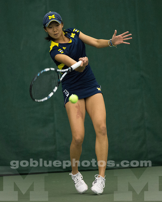 The University of Michigan women's tennis team beat No. 12 Nebraska, 5-2, at the Varsity Tennis Center in Ann Arbor, Mich., on April 13, 2013.