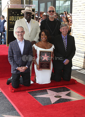 """HOLLYWOOD, CA - JULY 11: Mitch O'Farrell, Niecy Nash, Cedric """"The Entertainer"""", Ryan Murphy, Leron Gubler, at Niecy Nash Honored With Star On The Hollywood Walk Of Fame in Hollywood, California on July 11, 2018. Credit: Faye Sadou/MediaPunch"""