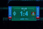 Feature Anzeigentafel 1:4<br /> <br /> Sport: Fussball: 1. Bundesliga: Saison 19/20: <br /> 26. Spieltag: SV Werder Bremen vs Bayer 04 Leverkusen, 18.05.2020<br /> <br /> Foto ©  gumzmedia / Nordphoto / Andreas Gumz / POOL <br /> <br /> Nur für journalistische Zwecke! Only for editorial use!<br />  DFL regulations prohibit any use of photographs as image sequences and/or quasi-video.