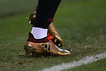The golden boots of George Baldock of Sheffield Utd during the Championship match at Bramall Lane Stadium, Sheffield. Picture date 30th December 2017. Picture credit should read: Simon Bellis/Sportimage
