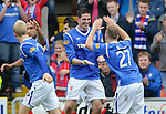 Kyle Lafferty celebrates his goal with Gregg Wylde