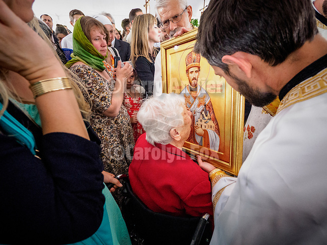 Patriarchal Divine Liturgy service with His Holiness Irinej to venerate and glorify the relics of St. Mardarije of Libertyville, St. Sava Monastery Church<br /> <br /> #NGMWADiocese<br /> #GlorificationStMardarije, #Chicago, #PatriarchIrinej, #MetropolitanAmphiloije<br /> #SerbianOrthodoxChurch<br /> #www.stsavamonastery.org