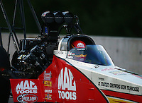 Jun 3, 2016; Epping , NH, USA; NHRA top fuel driver Doug Kalitta during qualifying for the New England Nationals at New England Dragway. Mandatory Credit: Mark J. Rebilas-USA TODAY Sports