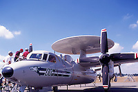 "Grumman E-2C Hawkeye Early Warning Aircraft (aka ""Super Fudd"" and the ""Hummer"") on Static Display - at Abbotsford International Airshow, BC, British Columbia, Canada"