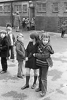 Hanging out in the playground, Darell Road Primary School, London.  1973
