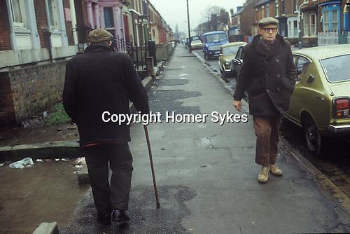 Hull, Humberside north of England. Terraced housing working class neighbourhood. 1980s. UK