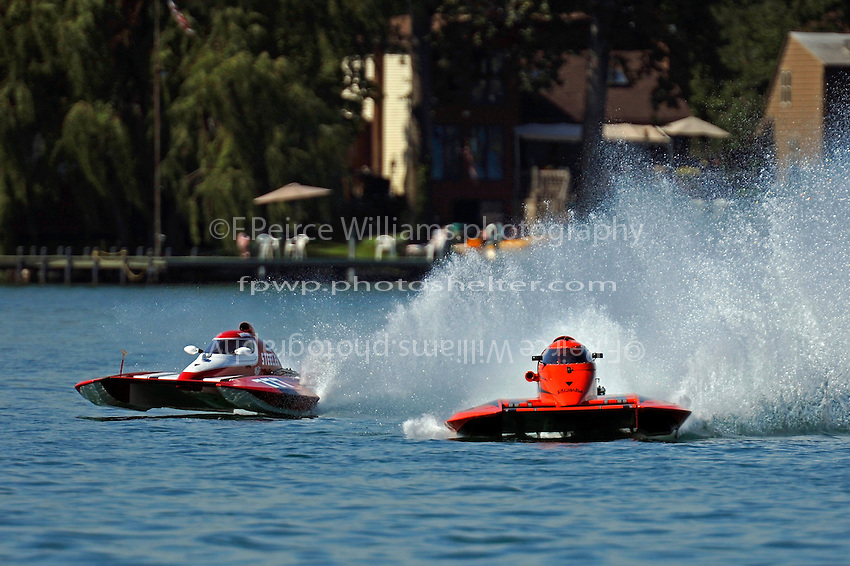 "T-777 ""Lil Steeler"" and Mike Grendell, Jr., T-79 ""Bad Influence"" (1.5 Litre Stock hydroplane(s)"