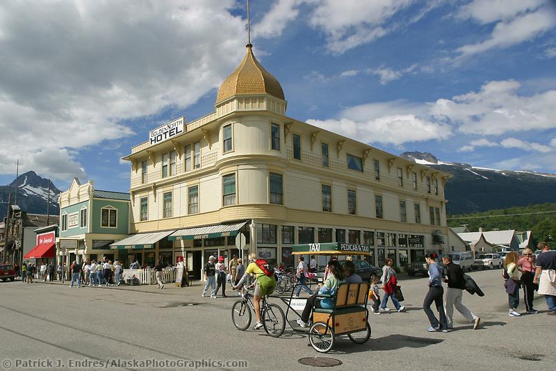 Skagway Alaska, Golden North Hotel, in historic gold rush town of Skagway, Alaska, end of Alaska's inside passage Lynn Canal.