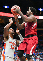 NWA Democrat-Gazette/CHARLIE KAIJO Arkansas Razorbacks guard Jaylen Barford (0) reaches for a layup during the Southeastern Conference Men's Basketball Tournament quarterfinals, Friday, March 9, 2018 at Scottrade Center in St. Louis, Mo.