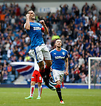 Lee Wallace celebrates fter scoring the third goal for Rangers