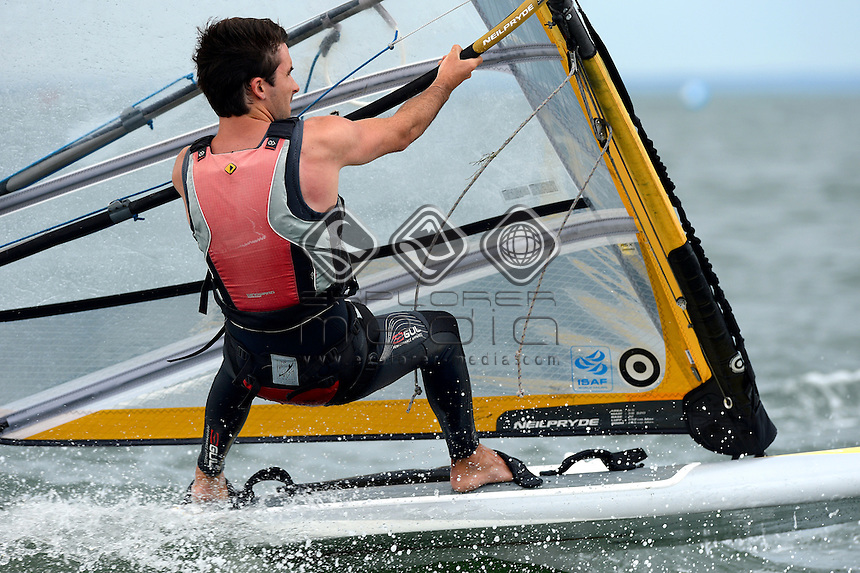 RSX-Men / Tony MACKENZIE (NZL)<br /> 2013 ISAF Sailing World Cup - Melbourne<br /> Sail Melbourne - The Asia Pacific Regatta<br /> Sandringham Yacht Club, Victoria<br /> December 1st - 8th 2013<br /> &copy; Sport the library / Jeff Crow