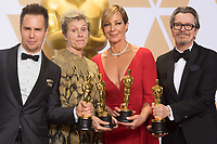 Sam Rockwell, Frances McDormand, Allison Janney and Gary Oldman pose backstage during the live ABC Telecast of The 90th Oscars&reg; at the Dolby&reg; Theatre in Hollywood, CA on Sunday, March 4, 2018.<br /> *Editorial Use Only*<br /> CAP/PLF/AMPAS<br /> Supplied by Capital Pictures