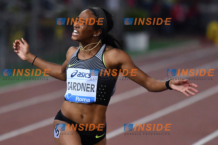 English GARDNER USA 100m Women <br /> Roma 02-06-2016 Stadio Olimpico <br /> IAAF Diamond League Golden Gala <br /> Atletica Leggera<br /> Foto Andrea Staccioli / Insidefoto