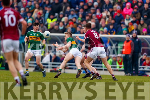 Peter Crowley Kerry in action against  Galway in the Allianz Football League Division 1 Round 4 match between Kerry and Galway at Austin Stack Park, Tralee, Co. Kerry.