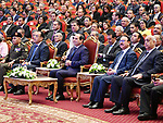 Egyptian President Abdel Fattah al-Sisi attends the conference of communications and information technology, in Cairo, Egypt, on December 3, 2017. Photo by Egyptian President Office
