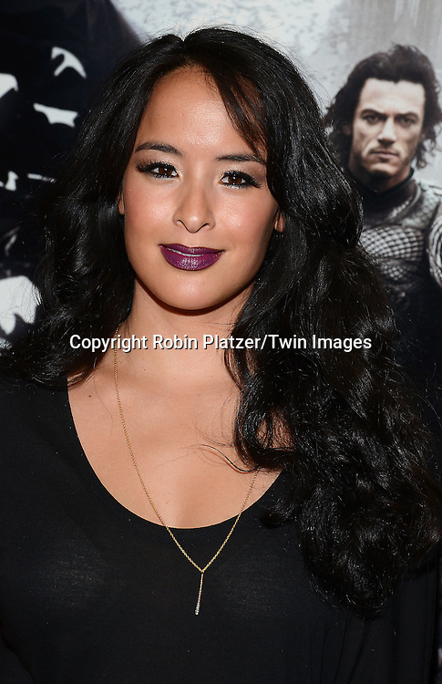 Courtney Reed attends the Special Screening of &quot;Dracula Untold&quot;  on October 6, 2014 at The ABC Loews 34th Street Imax Theatre In New York City. <br /> <br /> photo by Robin Platzer/Twin Images<br />  <br /> phone number 212-935-0770