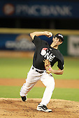 Pitcher Domenick Mancini (18) of Cypress Bay High School participates in the Team One Futures Game East at Roger Dean Stadium on September 25, 2010 in Jupiter, Florida..  (Copyright Mike Janes Photography)
