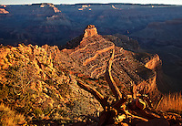 Oneill Butte and the South Kaibab Trail in the Grand Canyon, Arizona.