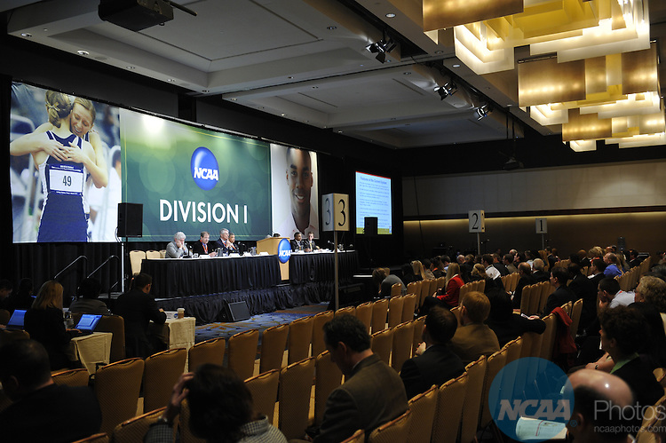 14 JAN 2010: The Division I Issues Forum at the 2010 NCAA Convention held at the Marriott Marquis and the Hyatt Regency in Atlanta, GA. Stephen Nowland/NCAA Photos.Pictured:.