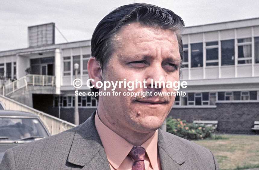 William Snoddy, candidate, Vanguard Unionist, South  Antrim, Assembly Election, 197306000413b<br /> <br /> Copyright Image from Victor Patterson, 54 Dorchester Park, Belfast, UK, BT9 6RJ<br /> <br /> t1: +44 28 9066 1296 (from Rep of Ireland 048 9066 1296)<br /> t2: +44 28 9002 2446 (from Rep of Ireland 048 9002 2446)<br /> m: +44 7802 353836<br /> <br /> e1: victorpatterson@me.com<br /> e2: victorpatterson@gmail.com<br /> <br /> The use of my copyright images is subject to my Terms &amp; Conditions.<br /> <br /> It is IMPORTANT that you familiarise yourself with them. They are available on my website at www.victorpatterson.com.<br /> <br /> None of my copyright images may be used on a website unless they are visibly watermarked, i.e. &copy; Victor Patterson within the body of the visible image. Metadata denoting my copyright must NOT be deleted. <br /> <br /> Web use (maximum size - 400 kb) is extra at currently recommended NUJ rates.