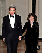 United States Senator John Kerry (Democrat of Massachusetts) and Teresa Heinz Kerry arrive for the State Dinner in honor of President Hu Jintao of China at the White House In Washington, D.C. on Wednesday, January 19, 2011. .Credit: Ron Sachs / CNP.(RESTRICTION: NO New York or New Jersey Newspapers or newspapers within a 75 mile radius of New York City)