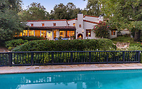 BNPS.co.uk (01202 558833)<br /> Pic: JimBartsch/DouglasElliman<br /> <br /> The mature grounds created by the green fingered Karloff provide privacy in the heart of Beverly Hills.<br /> <br /> Goddesses and Monsters - Hacienda Style home from the halcyon days of Hollywood for sale.<br /> <br /> The enchanting former Beverly Hills home of both film icon Katharine Hepburn, and screen monster Boris Karloff has emerged on the market for £7million. ($8,95m)<br /> <br /> The four-time Oscar winning starlet lived at the 'hacienda' home when she first moved to Hollywood in the early 1930s.<br /> <br /> After finding fame, she sold it to Frankenstein actor Boris Karloff in the mid-1940s who bizarrely was a keen gardener and worked extensively on the landscaping.<br /> <br /> Another famous former owner of the single storey, five bedroom Spanish style residence, which has its own swimming pool and bar, is Animals frontman Eric Burdon, whose House of the Rising Sun, help fund its purchase in the 1960's.<br /> <br /> It is being sold with estate agent Douglas Elliman who describe it as 'a home fit for Hollywood royalty'.