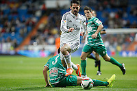 Real Madrid´s Isco (U) and Cornella´s Borja during Spanish King Cup match between Real Madrid and Cornella at Santiago Bernabeu stadium in Madrid, Spain.December 2, 2014. (NortePhoto/ALTERPHOTOS/Victor Blanco)