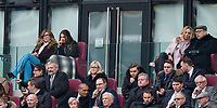 West Ham co owners Karren Brady & David Sullivan sit with family members and others in the directors seats during the EPL - Premier League match between West Ham United and Southampton at the Olympic Park, London, England on 31 March 2018. Photo by Andy Rowland.