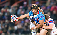 Picture by Allan McKenzie/SWpix.com - 09/02/2018 - Rugby League - Betfred Super League - Wakefield Trinity v Salford Red Devils - The Mobile Rocket Stadium, Wakefield, England - Lama Tasi offloads.