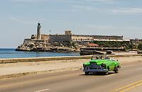 HAVANA, CUBA, 23.07.2015 –  Vista do Castillo del Morro em Malecón em Havana em Cuba. (Foto: Paulo Lisboa/Brazil Photo Press)