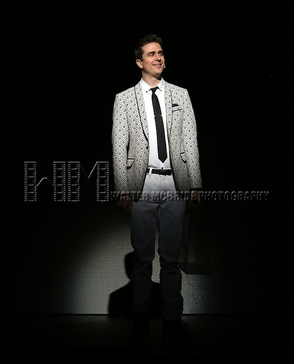 Adam Trent performing in a press preview of 'The Illusionists' at Mariott Marquis Theatre on December 2, 2014 in New York City.