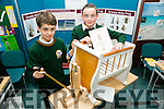 Eoghan McKenna and Jack Nagle from Killorglin Community college with their project Dreamy baby prop at SciFest 2016 on Thursday at ITT North Campus, 8th Science and Technology competition for 2nd level schools