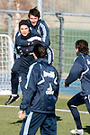 Madrid (24/02/10).-Entrenamiento del Real Madrid..Esteban Granero y Cristiano Ronaldo...© Alex Cid-Fuentes/ ALFAQUI..Madrid (24/02/10).-Training session of Real Madrid c.f..Esteban Granero and Cristiano Ronaldo...© Alex Cid-Fuentes/ ALFAQUI.