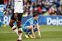 8th February 2020; Coliseum Alfonso Perez, Madrid, Spain; La Liga Football, Club Getafe Club de Futbol versus Valencia; Jaime Mata (Getafe CF)  frustrated as he misses a good goal scoring chance
