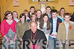 Students from Castledrum National School who received their Confirmation from Bishop Bill Murphy in St Gobnaits Church, Keel, last Wednesday. .