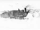 3/4 engineer's-side view of D&amp;RGW #360 switching at Cedar Creek, CO in heavy snow.<br /> D&amp;RGW  Cedar Creek, CO  Taken by Perry, Otto C. - 1/22/1940