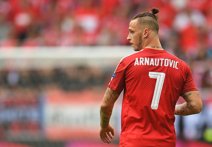Austria's Marko Arnautovic<br /> <br /> Photographer Kevin Barnes/CameraSport<br /> <br /> International Football - 2016 UEFA European Championship -  Group F - Austria v Hungary - Tuesday 14th June 2016 - Stade de Bordeaux, Bordeaux, France<br /> <br /> World Copyright &copy; 2016 CameraSport. All rights reserved. 43 Linden Ave. Countesthorpe. Leicester. England. LE8 5PG - Tel: +44 (0) 116 277 4147 - admin@camerasport.com - www.camerasport.com