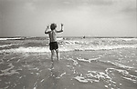 Young boy in surf. Brigantine Beach, New Jersey 1978