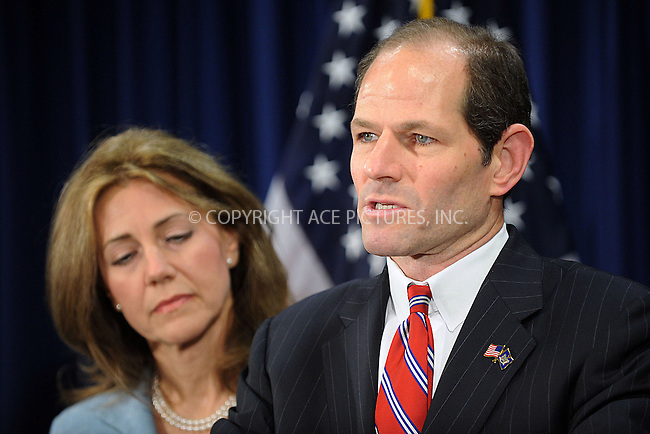 "WWW.ACEPIXS.COM . . . . . ....March 10 2008, New York City....Governor Spitzer held to press conference to address his involvement with a prostitution ring which was revealed by the New York Times.....Spitzer said: ""I have acted in a way that violates my obligation to my family.That violates my, or any sense, of right and wrong. I apologize first, and most importantly, to my family, I apologize to the public, whom I promised better. I must now spend time to regain the trust of my family."" ....Governor Spitzer has not yet resigned. His wife Silda Wall Spitzer appeared by his side looking sad and bearly holding back tears.......Please byline: KRISTIN CALLAHAN - ACEPIXS.COM.. . . . . . ..Ace Pictures, Inc:  ..(646) 769 0430..e-mail: info@acepixs.com..web: http://www.acepixs.com"