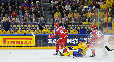 Friday, 5 May, 2017,Lanxess Arena , Cologne/GER<br /> IIHF World Hockey Championship 2017<br /> SWE  vs  RUS<br /> Russia`s 	VLADISLAV NAMESTNIKOV,l, and NIKITA KUCHEROV,r down Sweden`s  ANTON STR&Aring;LMANFriday, 5 May, 2017,Lanxess Arena , Cologne/GER<br /> IIHF World Hockey Championship 2017<br /> USA  vs  GER