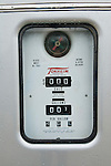 Historic Cowan Texaco service station with old gas pumps, Cowan, Tenn. Gas price: $.409 per gallon