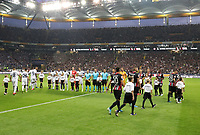Eimlauf der Mannschaften - 29.08.2019: Eintracht Frankfurt vs. Racing Straßburg, UEFA Europa League, Qualifikation, Commerzbank Arena<br /> DISCLAIMER: DFL regulations prohibit any use of photographs as image sequences and/or quasi-video.