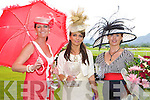 The three finalists in the best dressed lady looking stunning at the Killarney Races on Thursday was l-r: Una Buckley Listowel (best hat), Josie McCannon Killarney (winner) and Laura Tangney Killarney (runner up).